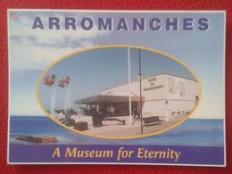 TARJETA PUBLICITARIA PUBLICIDAD FLYER FOLLETO O SIMILAR ARROMANCHES FRANCIA FRANCE NORMANDIA NORMANDIE MUSEUM WAR WORLD - Publicidad