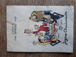 Carte Postale Spirou 1938 / 1948. - Cómics