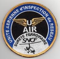 Patch UNITE AERIENNE D'INSPECTION DU RESEAU SNCF SURETE FERROVIAIRE U AIR Sur AUTOGIRE - Police & Gendarmerie