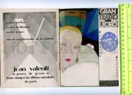 207468 GRAN TEATRO Del LICEO Programa 1927 AVANT-GARDE Jener - Calendars