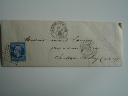 1860 Chalons Sur Marne  Cachet Type 15 Obliteration P C Petit Chiffre 704 Timbre Empire - Postmark Collection (Covers)