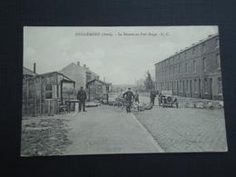 ( Comines-Warneton)  Deulémont (Nord)  La Douane Au Pont Rouge  E. C.  ( 2 Scans ) - Armentieres