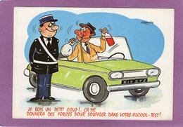 HUMOUR Illustrateur Alexandre 836 SERIE VOITURES Je Bois Un Petit Coup ! Ca Me Donneras Des Forces Pour Souffler .... - Alexandre