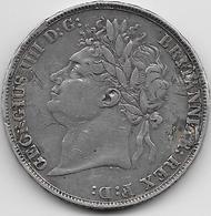 Grande Bretagne - Crown - 1821 - Argent - 1816-1901 : Frappes XIX° S.