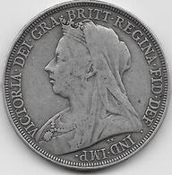 Grande Bretagne - Crown - 1897 - Argent - 1816-1901 : Frappes XIX° S.