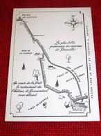 GROENENDAEL - HOEILAART -   Château De Groenendael - Restaurant Rose  - Carte,  Plan D'accès - Hoeilaart