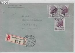 1946 Pestalozzi 275/469 3x Charge Zürich 20.II.46 - Brieven En Documenten
