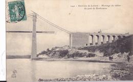 ENVIRONS DE LORIENT -  MONTAGE DU TABLIER DU PONT DU BONHOMME - Lorient