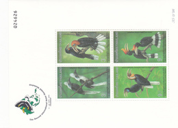 Thailand SS 112 1996 Second International Hornbill Workshop, Souvenir Sheet ,mint Never Hinged - Thailand
