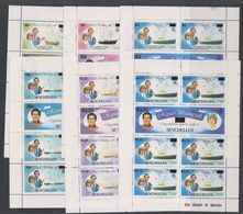 Seychelles 1981 Royal Wedding 6v Sheetlets ** Mnh (38856) - Seychellen (1976-...)