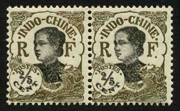 INDOCHINE - YT 98a EN PAIRE ** Et * - VARIETE DOUBLE IMPRESSION DU NOIR – SIGNES - Indocina (1889-1945)