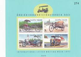 Thailand SS 145 1997 International Letter Writing Week, Souvenir Sheet ,mint Never Hinged - Thailand