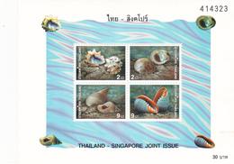 Thailand SS 146 1997 Thailand Singapore Jint Issue, Souvenir Sheet ,mint Never Hinged - Thailand