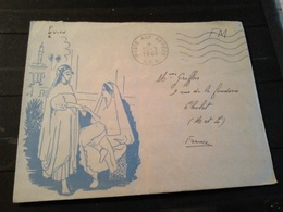 Enveloppe Illustrée  Cachet Poste Aux Armées  AFN 1961  SP 88473 - Poststempel (Briefe)