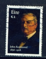 IRELAND  -  2018  John Redmond   1 Euro  Used As Scan - 1949-... Republic Of Ireland