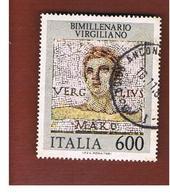 ITALIA REPUBBLICA  - SASS. 1575      -      1981 VIRGILIO    -      USATO - 6. 1946-.. República