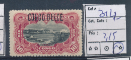 BELGIAN CONGO BOX1  1909 ISSUE COB 31L2 LH - 1894-1923 Mols: Mint/hinged