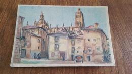 CP NEUVE ESPAGNE SEGOVIE PLACE TYPIQUE DU EVECHE - Segovia