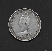 Grande Bretagne - 3 Pence - 1887 - Argent - 1816-1901 : Frappes XIX° S.