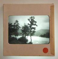 Plaque De Verre Positive Sous Carton - Chambon Du Lac - Murol - Lac Chambon - Glass Slides
