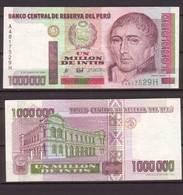 Peru , 1,000,000 Intis , 1990 , P-148 , VF - Peru