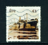IRELAND  -  2015  Gallipoli  1 Euro  Used As Scan - 1949-... Republic Of Ireland
