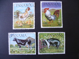 SERIE ANIMAUX FERME  POULE COQ  CHICKEN  VACHE COW  COCHON PIG - Collections, Lots & Series