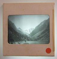 Plaque De Verre Positive Sous Carton - Cauterets - Lac De Gaube - Glass Slides