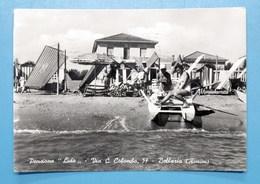 Cartolina Bellaria - Pensione Lido - 1956 - Rimini