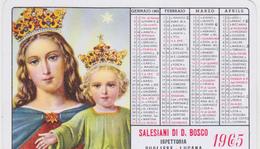 CALENDARIO SALESIANI DON BOSCO 1965 - Calendars
