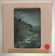 Plaque De Verre Positive Sous Carton - Gave De Gavarnie - Tourmalet - Le Bastan - Glass Slides