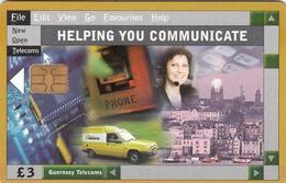 GUERNSEY ISLAND - Helping You Communicate, Used - United Kingdom