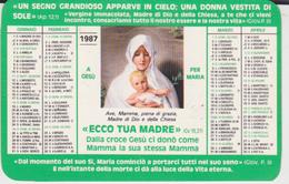CALENDARIO TASCABILE GIOVENTU' ARDENTE MARIANA 1987 - Calendarios