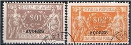 Açores, 1921/3, # 1/2, Encomenda Postal, Used - Azores
