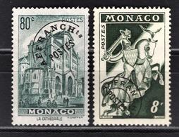 ** MONACO 1943 / 1951 - N° 2 ET 12 -  NEUFS* - Préoblitérés