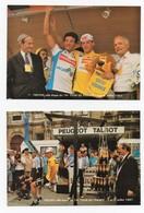 Cyclisme Tour De France 1987 Troyes Ville étape Jérôme Et Pascal Simon Maechler Bontempi Galley (3 Cartes) - Cycling