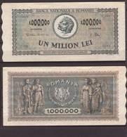 Rumänien , 1,000,000 Lei , 1947 , P-60 , VF - Romania