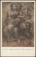 Leonardo Da Vinci - Madonna, Child And St Anne, C.1905-10 - Medici Society Postcard - Paintings
