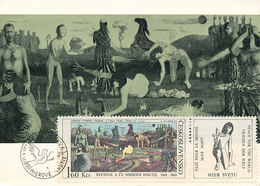 D33955 CARTE MAXIMUM CARD 1969 CZECHOSLOVAKIA - NUDE - FRIEDEN DER WELT - CORRECT POSTMARK BRATISLAVA CP ORIGINAL - Nudes