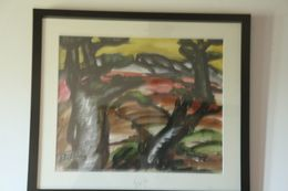 Frantz  PRIKING   -1929/1979 -  Aquarelle  Les Arbres - Watercolours