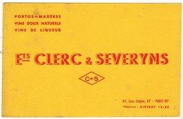 Mai18     81844    Buvard   Ets Clerc & Severyns   Paris - Liquor & Beer