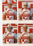 Cyclisme 1986 Equipe Fagor Bernaudeau De Wolf Tinazzi Bossis Martens Edmons Peloso Lemarchand Ocana Beucherie 10 Cartes - Cycling