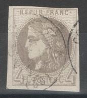 France - YT 41B - 4c Gris Oblitéré CAD - 1870 Ausgabe Bordeaux