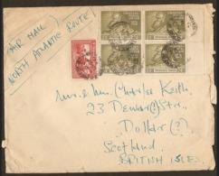 Trinidad And Tobago 1949  Opened Cover U.P.U. Block Of Four Air Mail To Scotland - Trinidad & Tobago (1962-...)