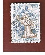 ITALIA REPUBBLICA  - SASS. 1585  -      1982  SAN FRANCESCO     -      USATO - 6. 1946-.. República