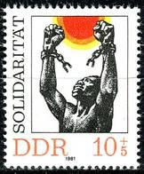 DDR - Mi 2648 - ** Postfrisch (A) - 10+5Pf    Solidarität 81 - [6] République Démocratique