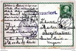 1916. - RESERVE OFFIZIERS INF. REGT. N° 69. -  ZENSURIERT  - CENSURA  - PILZEN 1916  AUSTRIA / UNGHERIA - Interi Postali