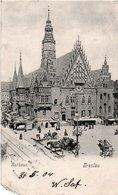 SLESIA-BRESLAVIA-BRESLAU-RATHAUS-VIAGGIATA-1904 - Polonia