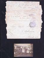 4 Enveloppe Et 1 Photo Escadrille Du Lido Venise 1917 - Aviation