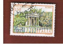 ITALIA REPUBBLICA  - SASS. 1610.1611  -      1982  VILLE D' ITALIA: D' ESTE, BORGHESE        -      USATO - 1946-.. République